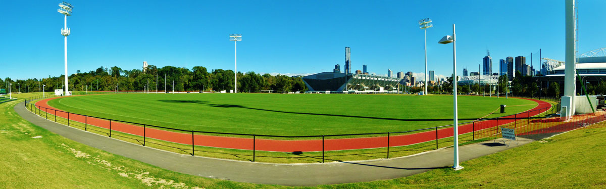 Like Goschs Paddock Olympic Park Oval Is Open To The Public Whenever It Not Being Used For Training A Narrow Athletics Track Around Perimeter Also
